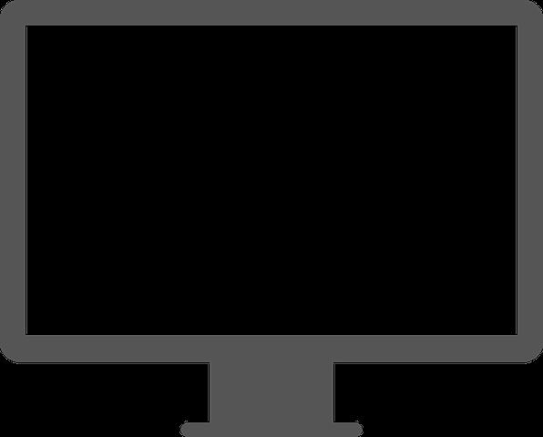 jpg royalty free Vector computer minimalist. Screen desktop monitor hd