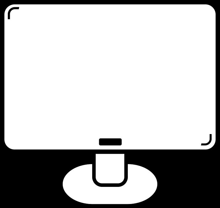 clip art black and white download Pc clipart simple cute. Vector computer minimalist