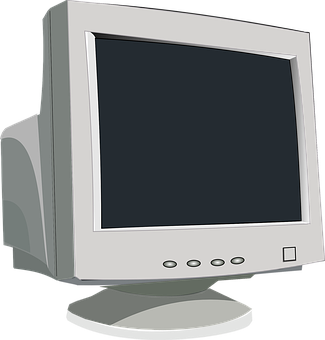 clipart black and white library Screen video desktop pinterest. Vector computer monitor