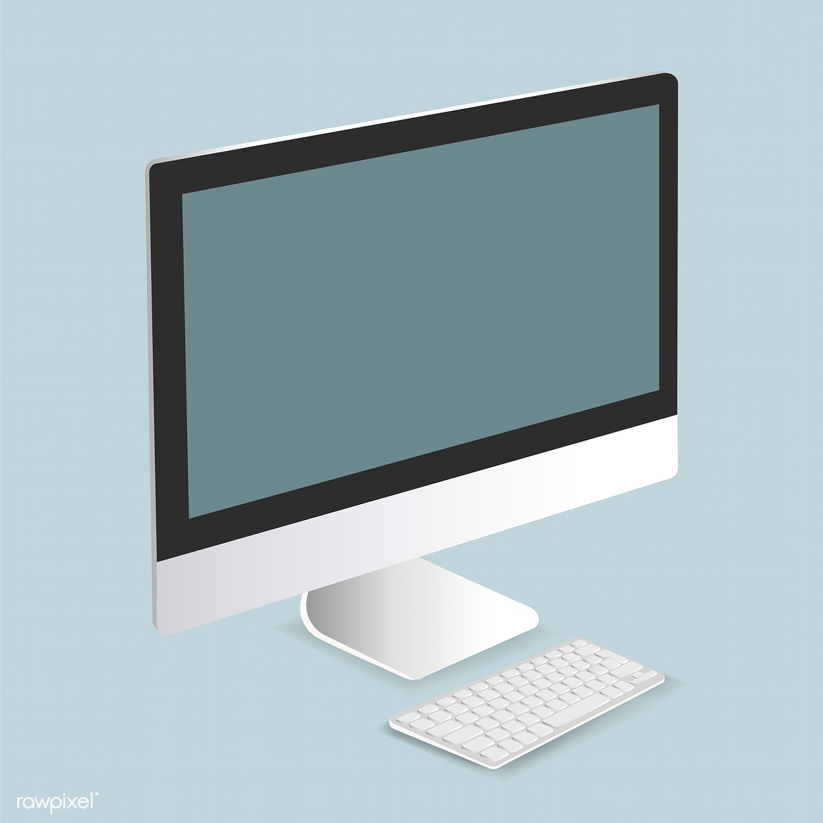 clip art transparent Vector computer monitor. Of icon free stock