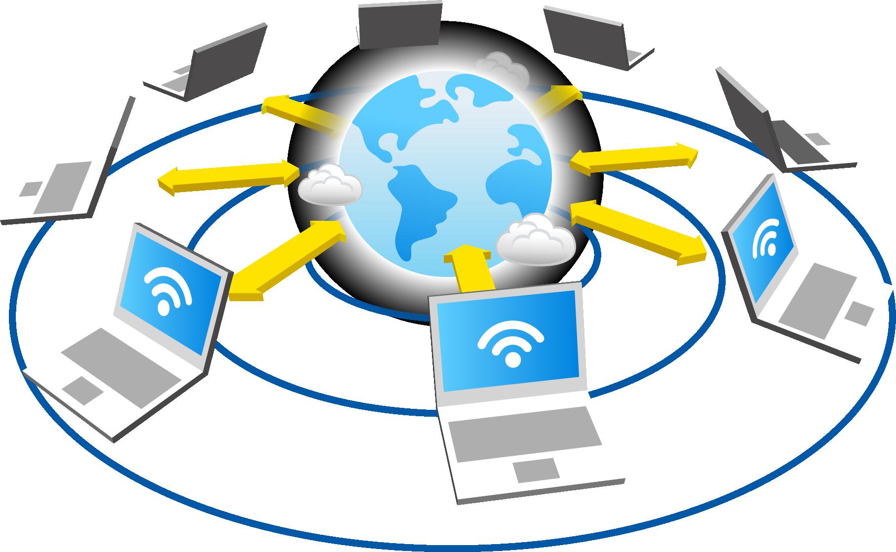 clip art freeuse Vector computer networking. Network download adobe illustrator