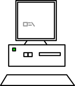 image black and white Clip art at clker. Vector computer outline