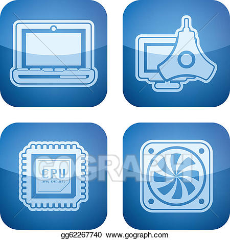 vector library Eps parts stock clipart. Vector computer part