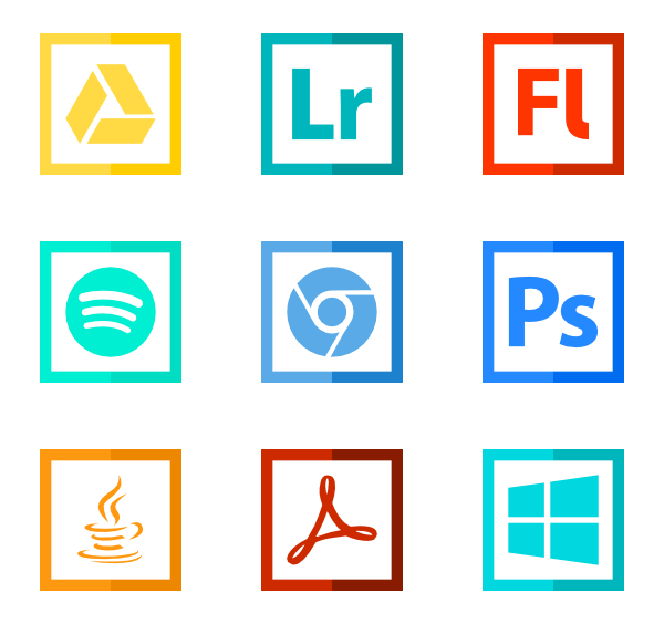 png freeuse stock Vector computer program. Software icons free logo