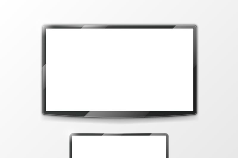clip download Vector computer tv screen. Lcd monitor display and
