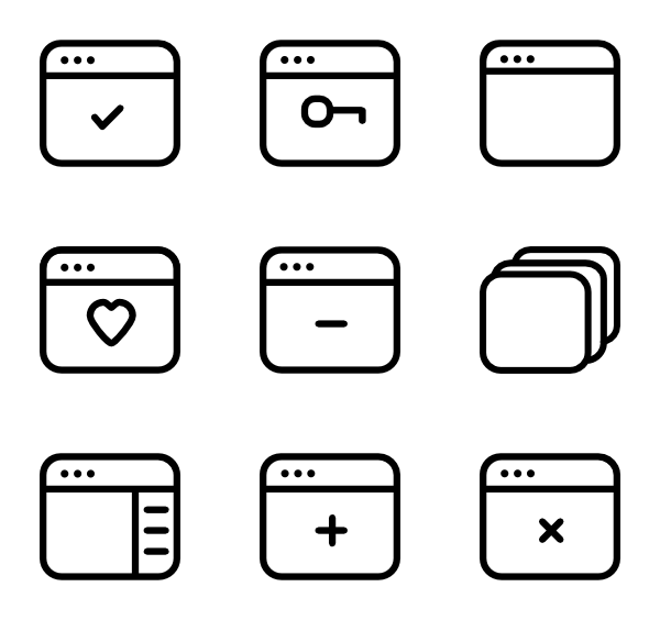 banner black and white Vector computer windows.  window icon packs