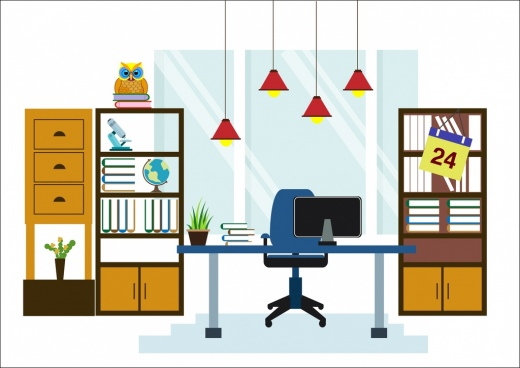 clipart royalty free library Free download for . Vector computer workspace