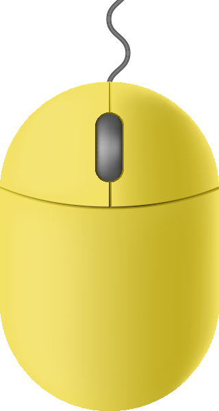 transparent library Lemon mouse icon free. Vector computer yellow