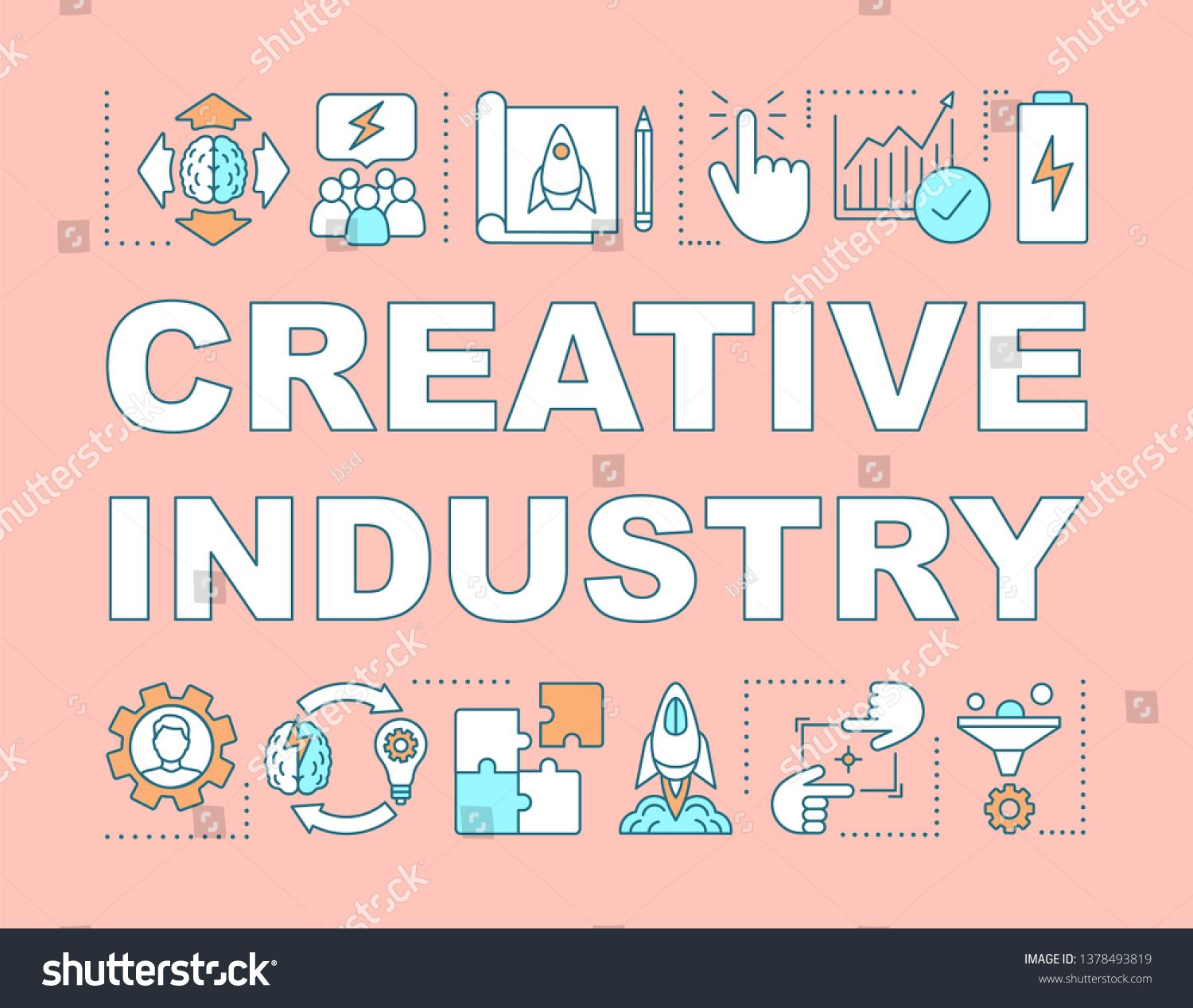 svg stock Vector concepts banner. Creative industry word cultural