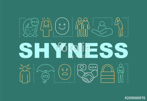image free stock Shyness word stock image. Vector concepts banner