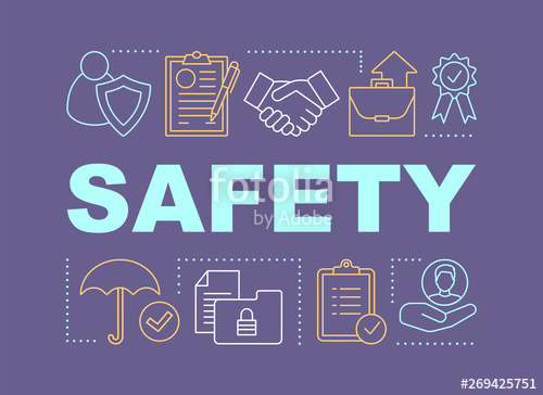 clipart Safety word stock image. Vector concepts banner