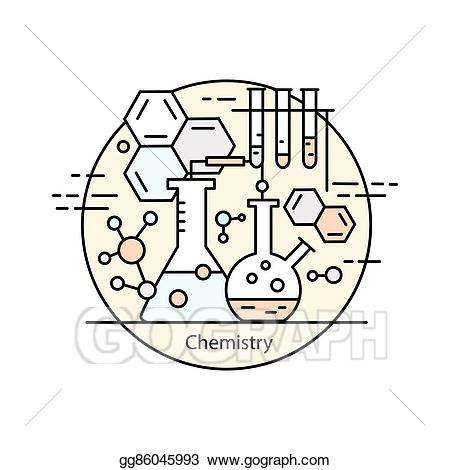png transparent library Illustration modern color thin. Vector concepts chemistry