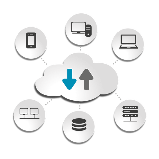 clip stock Vector concepts icons. Cloud computing devices concept