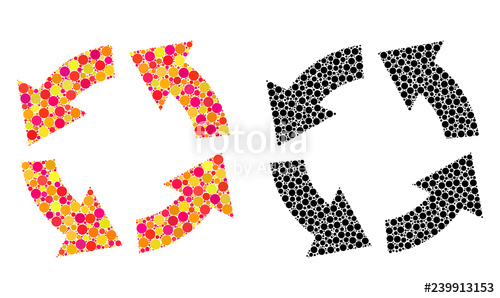 graphic transparent Vector concepts icons. Dot circulation mosaic in