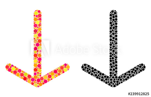 clipart freeuse download Dotted arrow down mosaic. Vector concepts icons