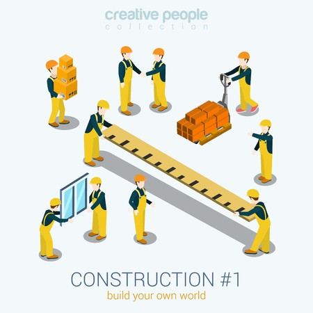 picture free stock Of construction builders people. Vector constructors builder