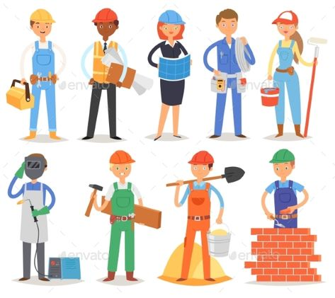 svg stock Builder Vector Constructor People Character