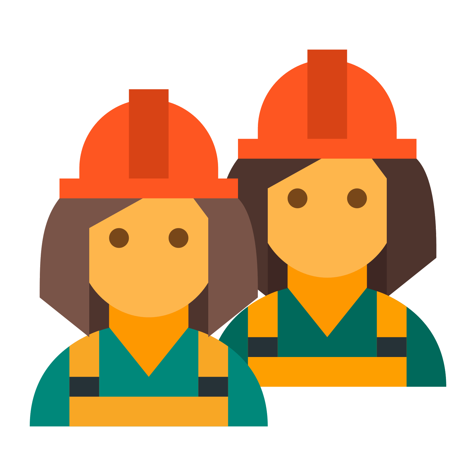 banner free library Construction workers icon free. Vector constructors contractor