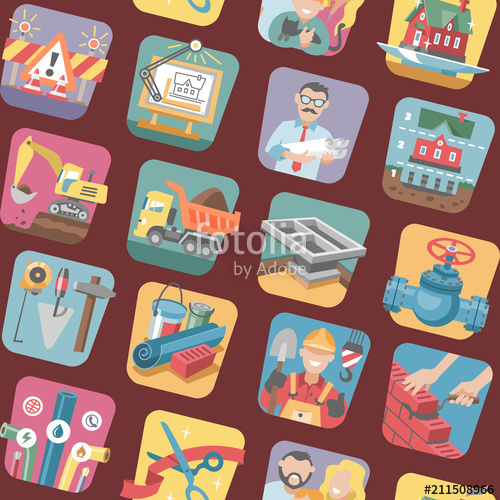 jpg royalty free Construction icons vector constructive equipmentor tools of