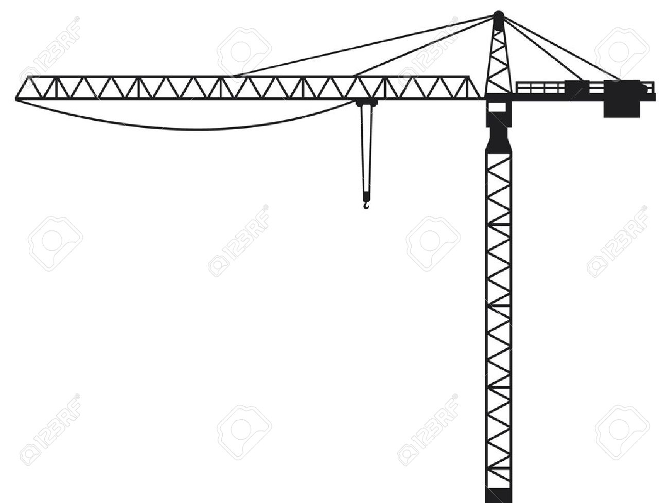 clip freeuse Vector constructors crane. Construction paintings search result
