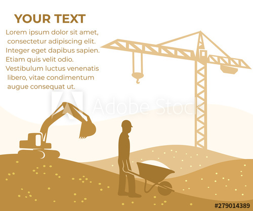 jpg free stock Construction building and constructing. Vector constructors crane