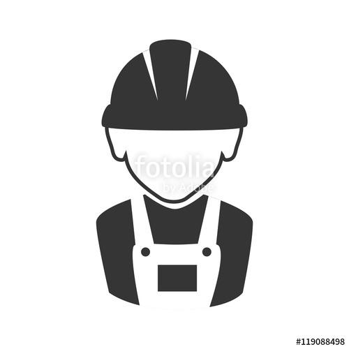 jpg royalty free Vector constructors illustration. Avatar constructor worker man