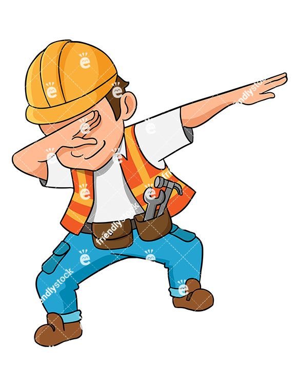 clipart freeuse Vector constructors illustration. Dabbing construction worker epic