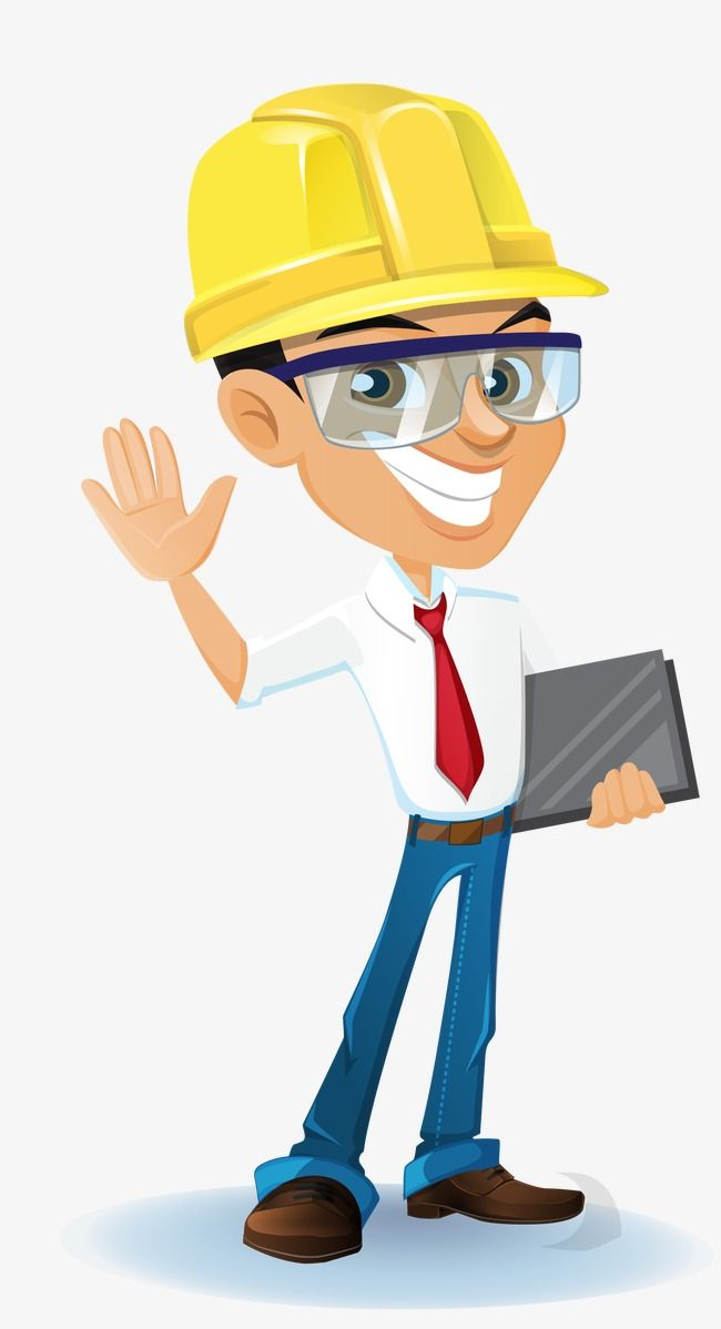 clip stock Construction engineer architectural . Vector constructors transparent