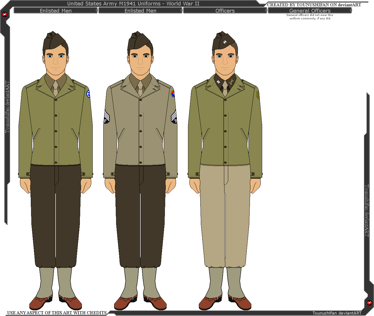graphic black and white Wwii u s army. Vector constructors uniform