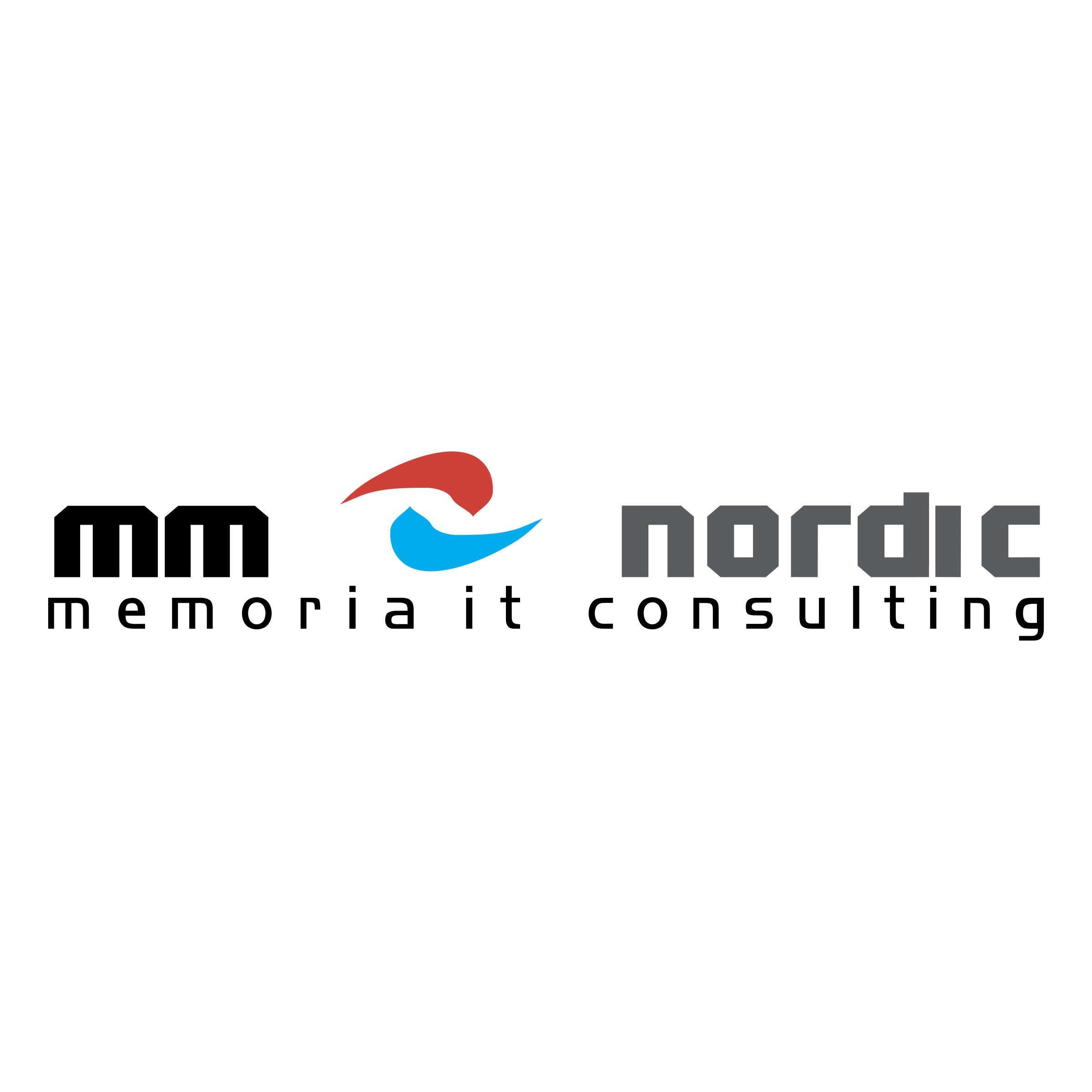 clipart black and white library Memoria nordic it logo. Vector consulting