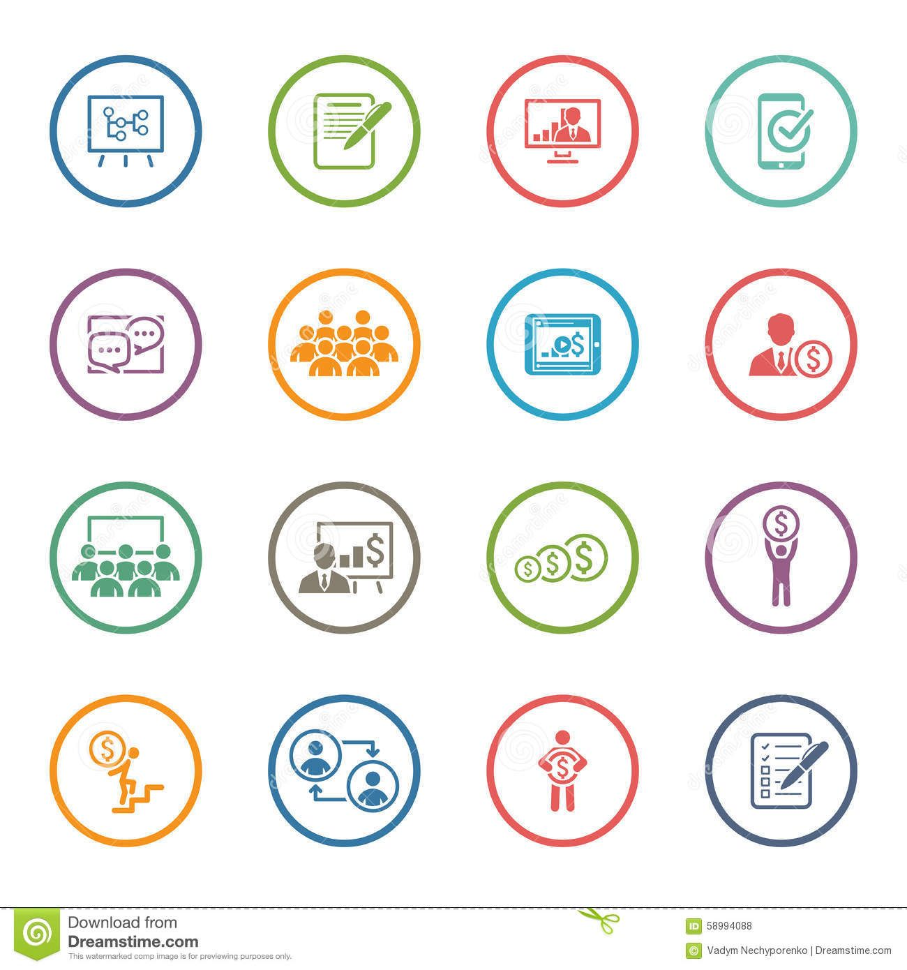 clip stock Business coaching icon set. Vector consulting today