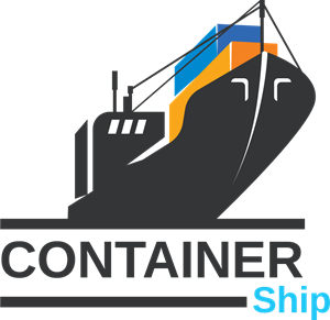 clip art free stock Vector container. Ship logo eps free