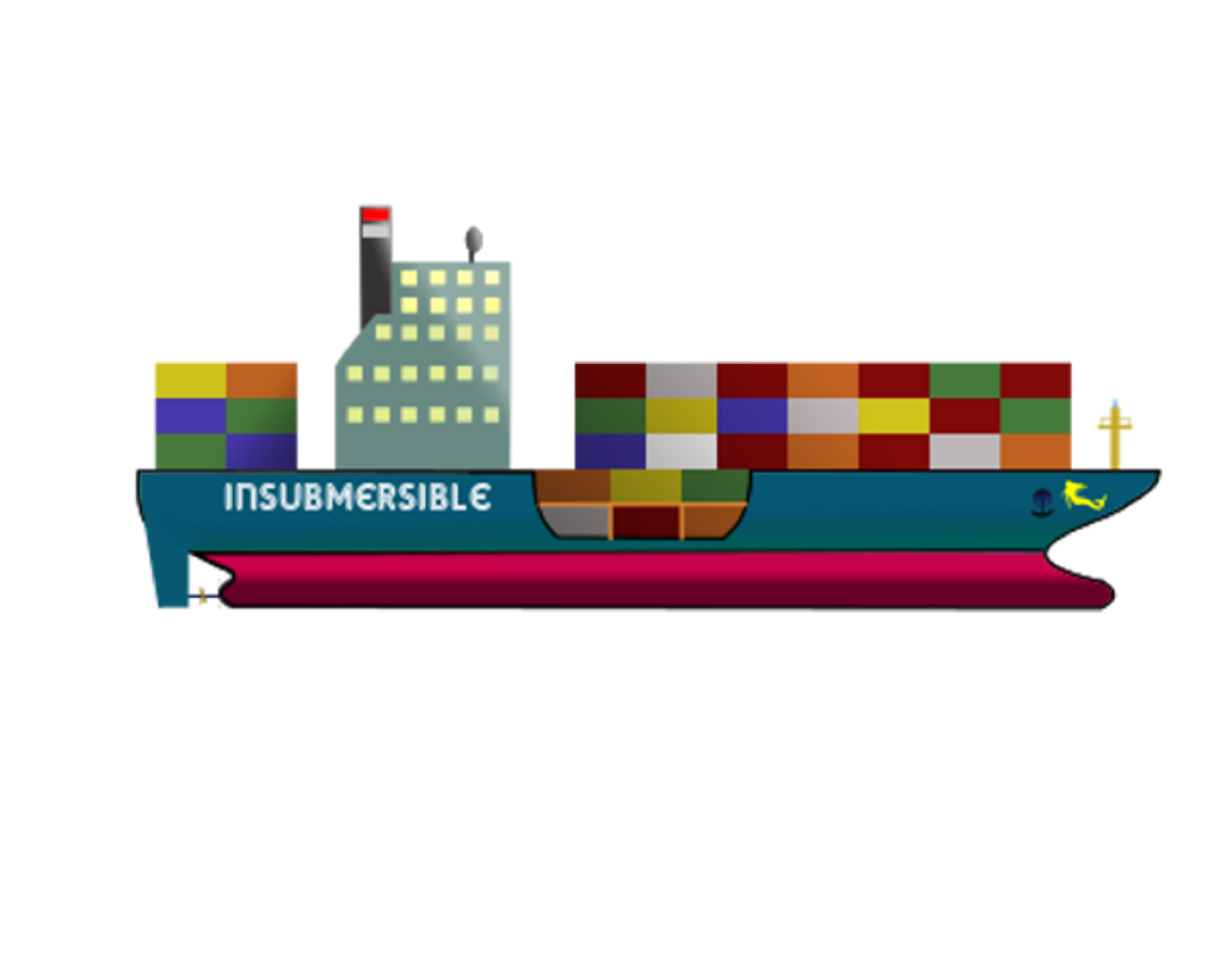 picture transparent stock Ship the insubmersible icons. Vector container cargo