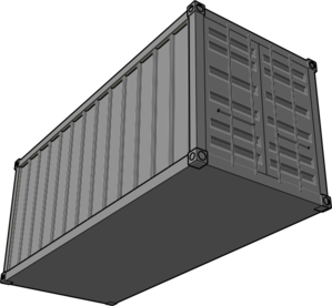 jpg royalty free library Clip art at clker. Vector container shipping