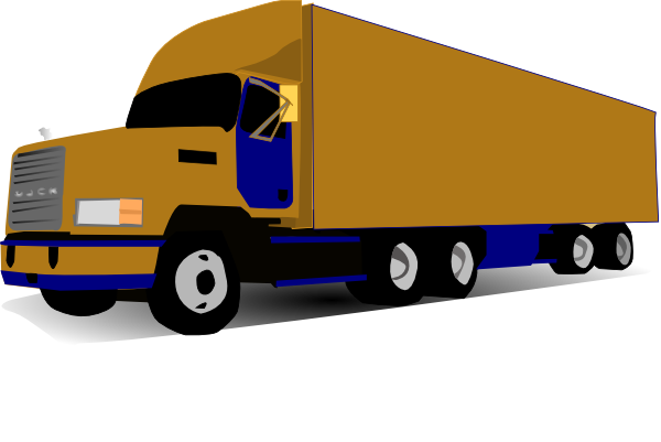 picture free  wheel blue and. Vector container truck