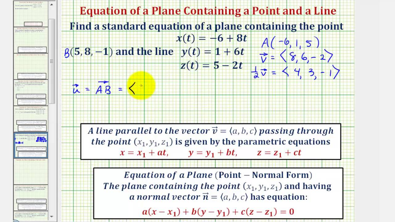 jpg transparent download Vector contains equation. Ex find the of