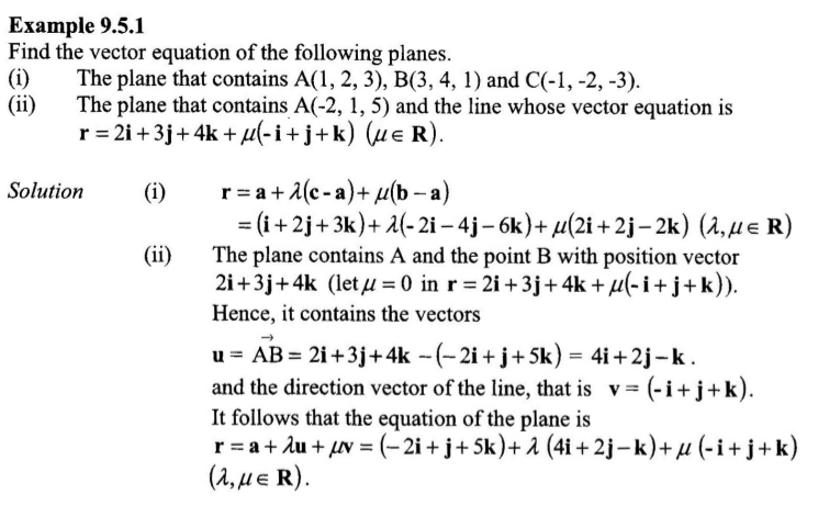 vector royalty free Finding of plane given. Vector contains equation