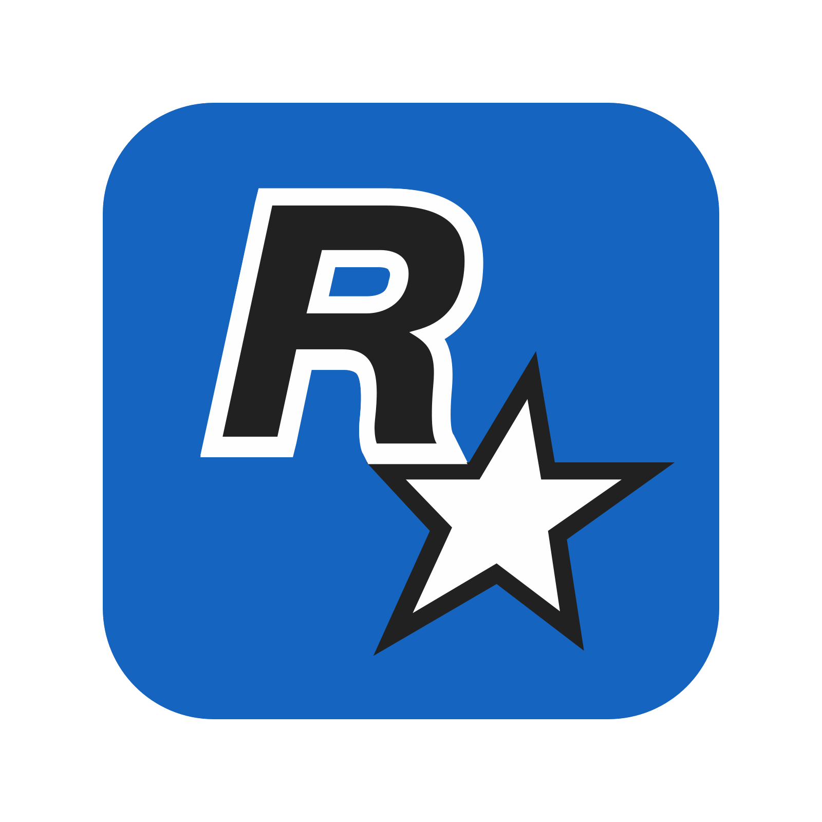 banner black and white Vector contains game. Rockstar games icon free