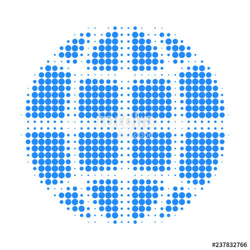 png library download Halftone dotted icon pattern. Vector contains globe