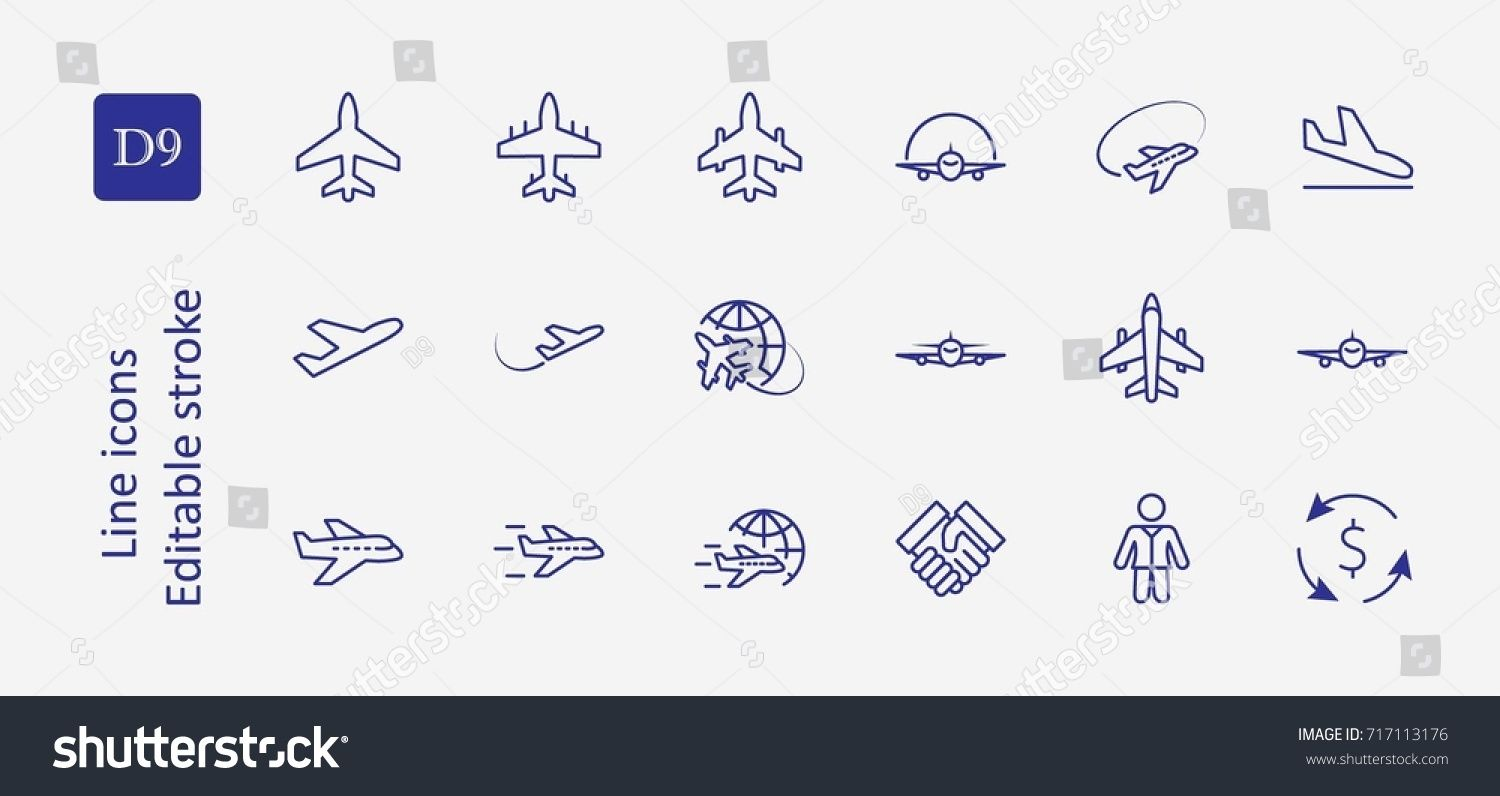 vector transparent download Vector contains globe. Set of plane line