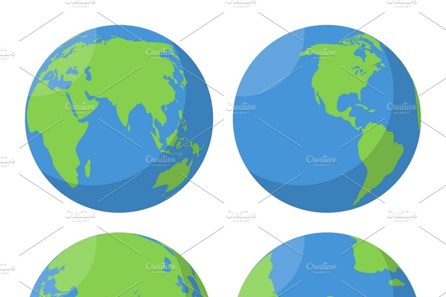 jpg royalty free library Vector contains globe. Flat earth icons set