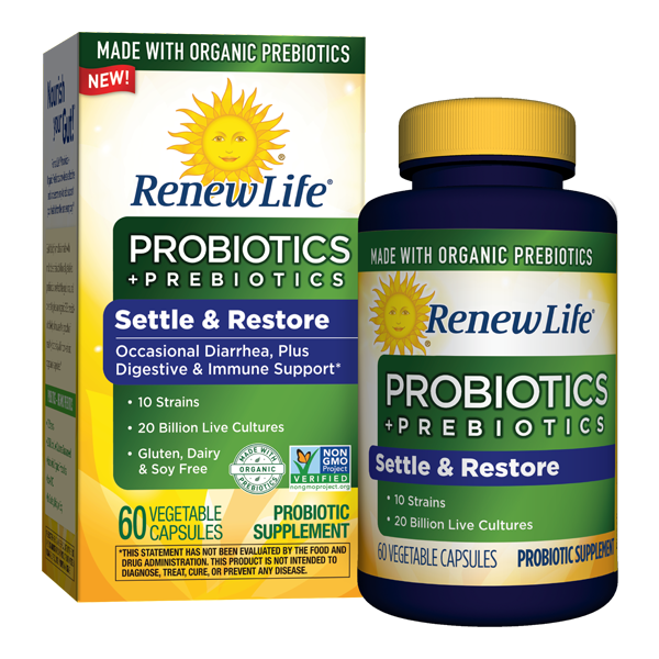 png free download Renew life organic prebiotics. Vector contains probiotics
