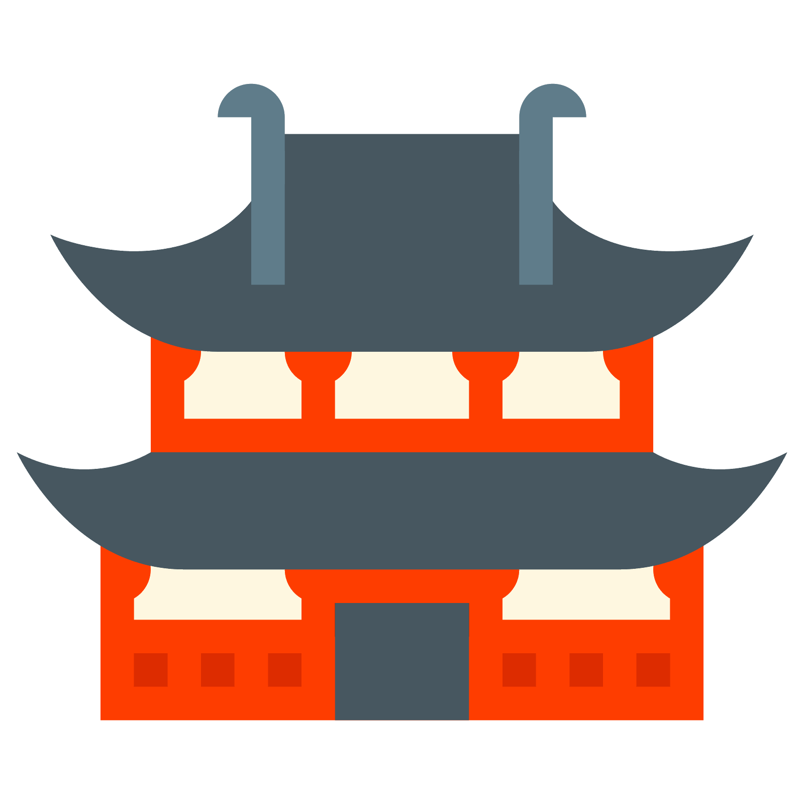 free download Temple icon free download. Vector contains tourism