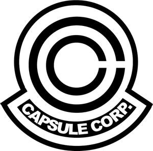 clipart black and white stock Capsule Corp Logo Vector