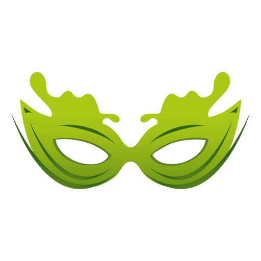 vector library Vector costume carnival. Travel green mask transparent
