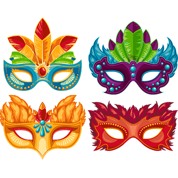 svg freeuse stock Vector costume carnival. Party mask png vectors