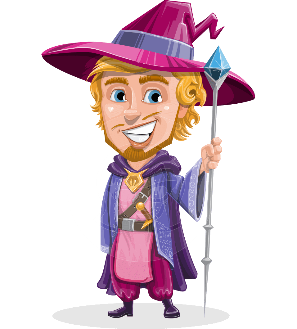 clipart free library Vector Wizard Cartoon Character