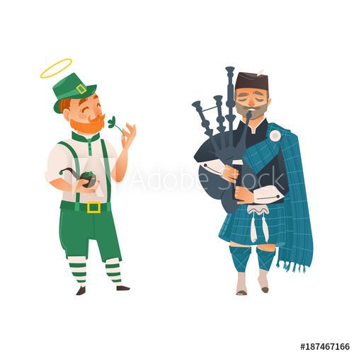 vector transparent People in united kingdom. Vector costume cartoon