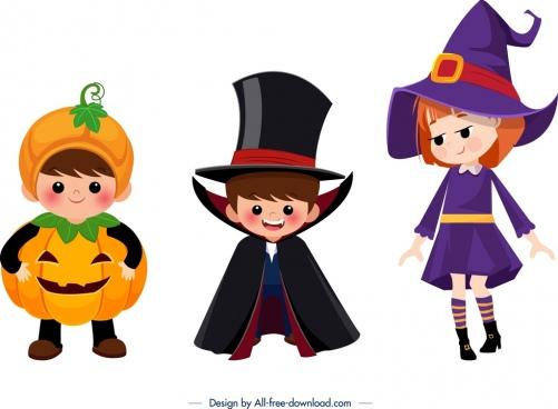 picture free stock Vector costume cartoon. Kids halloween costumes free