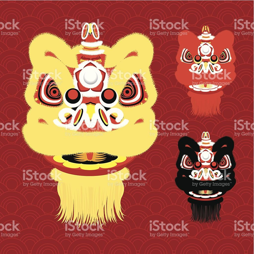 picture library download Illustration of different lion. Vector costume chinese new year